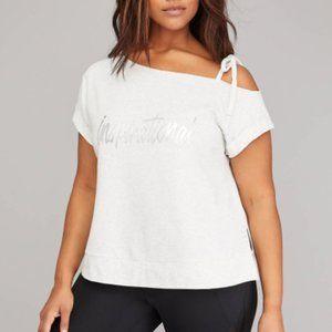 LIVI Active Inspirational One Shoulder Sweatshirt